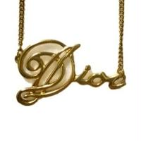 Dior gold logo necklace