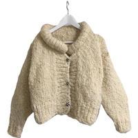 white knit blouson