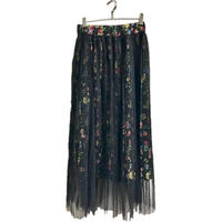 tulle pleats flower skirt