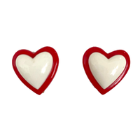 heart motif earring (No.4394)