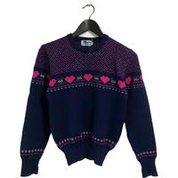 Heart design vintage knit