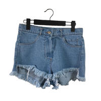 cut off denim short pants