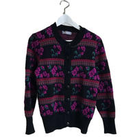YSL flower design knit cardigan