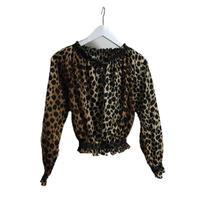 leopard volume blouse