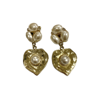 gold pearl design earring(No.4223)