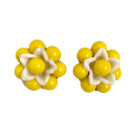 flower motif earring (No.4388)