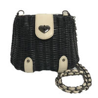 bi color bucket chain bag