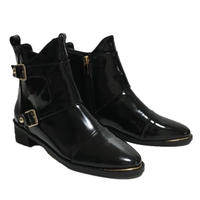 gold design enamel boots
