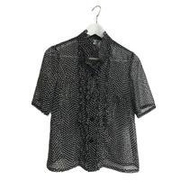 see-through flile dot blouse