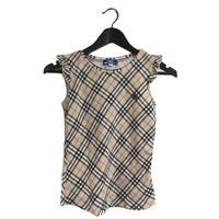 Burberry check frill design tops