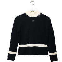 courrèges knit bi-color black