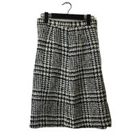 monotone check design skirt