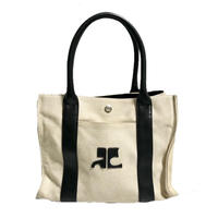 courregeses logo canvas bag