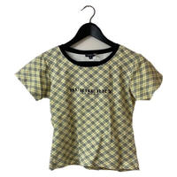Burberry check design logo tee yellow(No.2942)