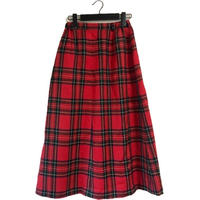 red check design skirt