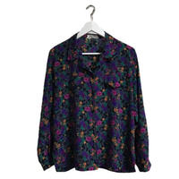 open collar flower shirt