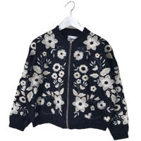 flower embroidery blouson