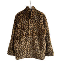 leopard reversible fur coat