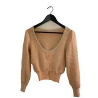 pink knit design cardigan (No.2595)