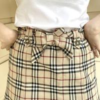 Burberry check mini skirt (No.4402)