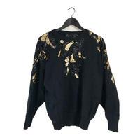 black&gold bijou knit