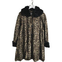 leopard fur design coat