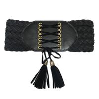 fringe lace-up gom belt