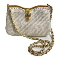 courreges white basket chain bag