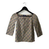 Burberry check design ribbon tops( No.3866