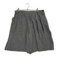 gingham check high-waist short pants
