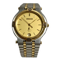 GUCCI logo design gold watch