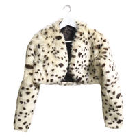 marble design fur short coat