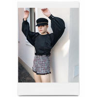 super arm volume blouse black