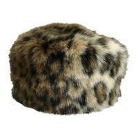 leopard fur cap