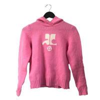 courrèges logo knit pink