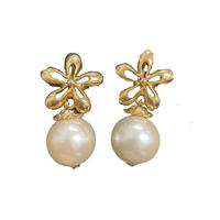 flower pearl earring (No.4511)