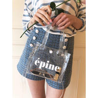 épine logo 2way clear bag