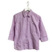 courreges gingham check shirt