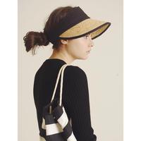 piping straw sun visor