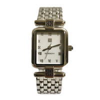 GIVENCHY silver square Watch