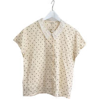 lace dot blouse ivory