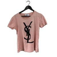 YSL logo tee baby pink