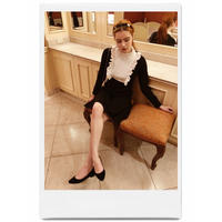 frill knit classical onepiece
