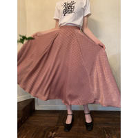satin dot volume skirt dasty pink