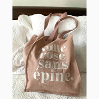 Nulle rose sans épine embroidery tote bag pink×white