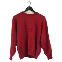 Dior logo knit red