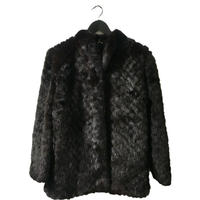 【スペシャルプライス】mink fur quilting coat dark blown