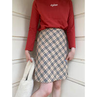 Burberry check design slit skirt(No.)