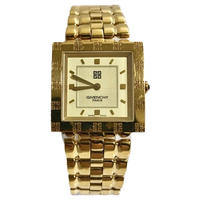 GIVENCHY square gold Watch
