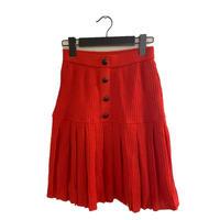 miss chloé knit pleats wool skirt(No.3371)